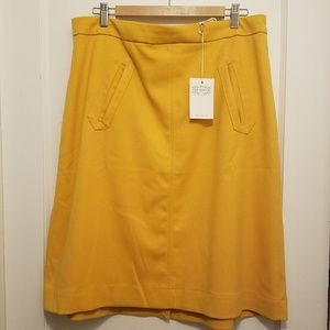 Aptitude for Anthropology A-Line Skirt in Mustard